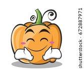 happy face pumpkin character... | Shutterstock .eps vector #672887971
