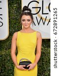 Small photo of LOS ANGELES, CA - JANUARY 8, 2017: Maisie Williams at the 74th Golden Globe Awards at The Beverly Hilton Hotel, Los Angeles