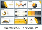 presentation templates with... | Shutterstock .eps vector #672903349