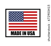 vector made in usa sign | Shutterstock .eps vector #672903415