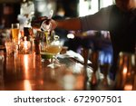 cocktails bar | Shutterstock . vector #672907501