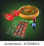 casino games | Shutterstock .eps vector #672908911