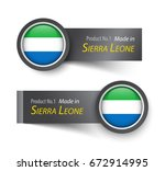flag icon and label with text... | Shutterstock .eps vector #672914995