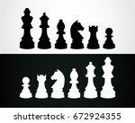 chess pieces vector icon | Shutterstock .eps vector #672924355