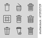 delete icons set. set of 9... | Shutterstock .eps vector #672925729