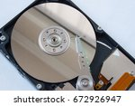 actuator arm and disk of a hard ...   Shutterstock . vector #672926947