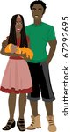 Raster version illustration of Family number 6 Isolated. - stock photo