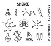 science icons on white... | Shutterstock .eps vector #672939511