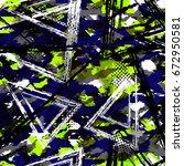 grunge camouflage  geometric... | Shutterstock .eps vector #672950581