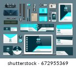 business corporate identity... | Shutterstock .eps vector #672955369