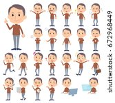 a set of men with who express... | Shutterstock .eps vector #672968449