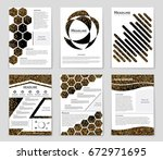 abstract vector layout... | Shutterstock .eps vector #672971695
