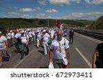istanbul  turkey   july 06 ... | Shutterstock . vector #672973411