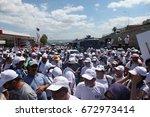 istanbul  turkey   july 06 ... | Shutterstock . vector #672973414