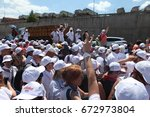 istanbul  turkey   july 06 ... | Shutterstock . vector #672973804