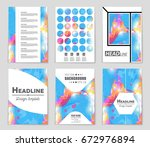abstract vector layout... | Shutterstock .eps vector #672976894