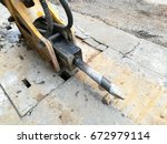 a road drill | Shutterstock . vector #672979114