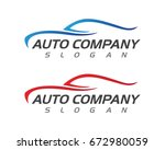 speed auto car logo template... | Shutterstock .eps vector #672980059