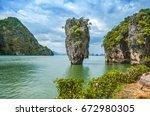 khaotopu island  khaopinggan... | Shutterstock . vector #672980305
