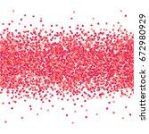 vector confetti heart splash.... | Shutterstock .eps vector #672980929