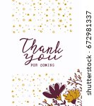 thank you card  thank you sign... | Shutterstock .eps vector #672981337