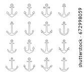 set of anchors  vector... | Shutterstock .eps vector #672998059