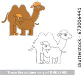 funny camel mom and baby to be... | Shutterstock .eps vector #673006441