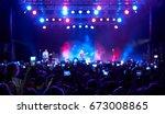 stage  concert light. people... | Shutterstock . vector #673008865