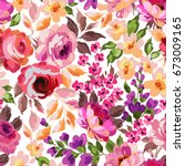 beautiful seamless floral... | Shutterstock .eps vector #673009165