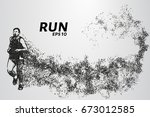 runner of the particles. the... | Shutterstock .eps vector #673012585