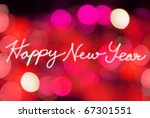 happy new year with lighting... | Shutterstock . vector #67301551