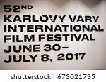sign  52th international film... | Shutterstock . vector #673021735
