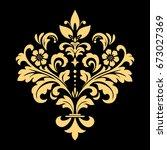 golden vector pattern on a... | Shutterstock .eps vector #673027369