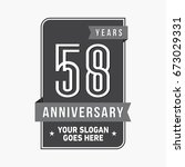 58 years anniversary design... | Shutterstock .eps vector #673029331