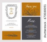 template rustic wedding...   Shutterstock .eps vector #673030051