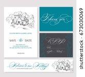 template rustic wedding...   Shutterstock .eps vector #673030069