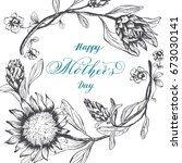 happy mother's day. calligraphy ... | Shutterstock .eps vector #673030141