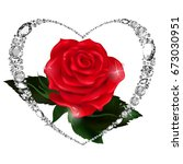 red rose. mothers day. rose... | Shutterstock .eps vector #673030951