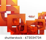 vector square template... | Shutterstock .eps vector #673034734
