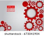red gear abstract vector on...   Shutterstock .eps vector #673041904
