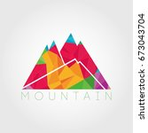 abstract geometrical mountain... | Shutterstock . vector #673043704