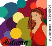 stock vector autumn type of... | Shutterstock .eps vector #673045909