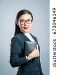 chinese business girl    Shutterstock . vector #673046149