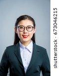 chinese business girl    Shutterstock . vector #673046215