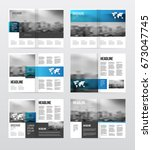 magazine or catalog template... | Shutterstock . vector #673047745