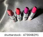 pink shades summer lipsticks | Shutterstock . vector #673048291