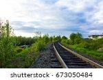 railway in kandalaksa | Shutterstock . vector #673050484