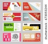 gift voucher certificate coupon ... | Shutterstock . vector #673053244