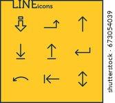 vector illustration of 9 arrows ... | Shutterstock .eps vector #673054039