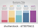 vector infographic template ... | Shutterstock .eps vector #673070611